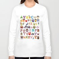 sesame street Long Sleeve T-shirts featuring Sesame Street Alphabet by Mike Boon