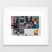 stickers Framed Art Prints featuring Stickers by Chee Sim