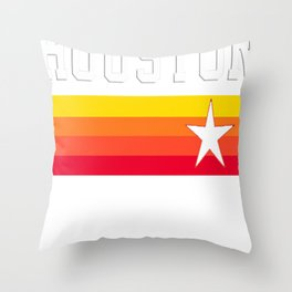 Houston Astros Baseball Throwback Stripes Vintage Throw Pillow