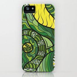 Green Dream - Grafidoodle iPhone Case