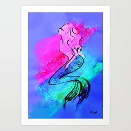 Midnight Mermaid Art Print