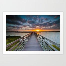 Bolsa Chica Wetlands Sunrise  6/18/14 Art Print