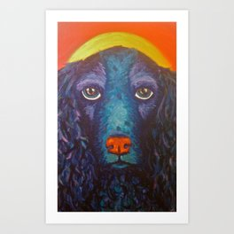 Enlightened Dog Art Print