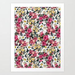 CLASSIC FLORAL PATTERN II Art Print