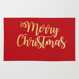 Merry Christmas Type Rug