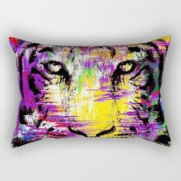 Tiger Glitch Rectangular Pillow