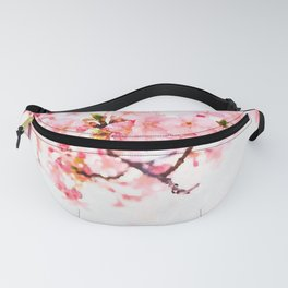 Cherry pink blossoms watercolor painting #1 Fanny Pack