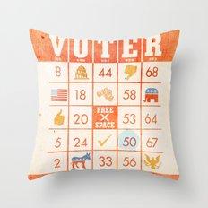 The Bingo Vote Throw Pillow