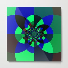 Green Blue Kaleidoscope Metal Print
