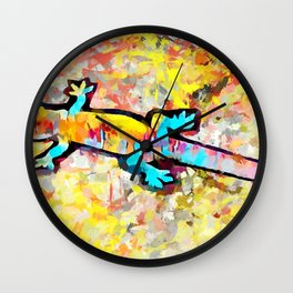 Common House Gecko 2 Wall Clock