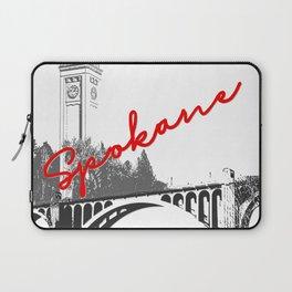 Spokane Clock Tower Monroe Street Bridge Laptop Sleeve