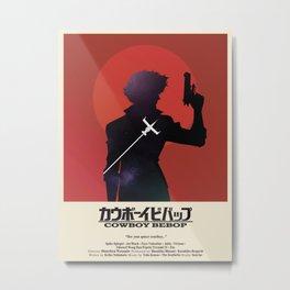 Cowboy Bebop - Space Cowboy Cropped Metal Print