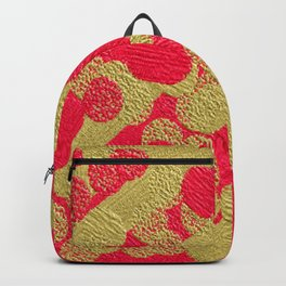 Pink and Gold Dots Backpack