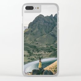 Yellow Moutain Clear iPhone Case