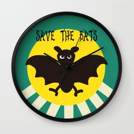 Save the Bats Wall Clock
