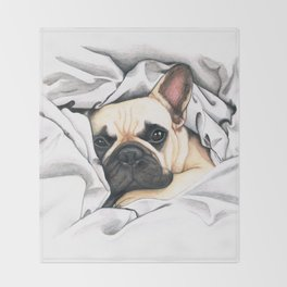 French Bulldog - F.I.P. - Miuda Frenchie Throw Blanket