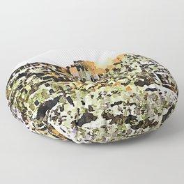 Sassi di Matera: view with sun Floor Pillow
