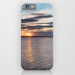 Beautiful sunset over the lake in Sweden iPhone Case