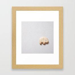Animal Cracker- white Framed Art Print