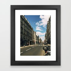 Sunny Day in Le Marais Framed Art Print
