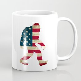 Bigfoot american flag Coffee Mug