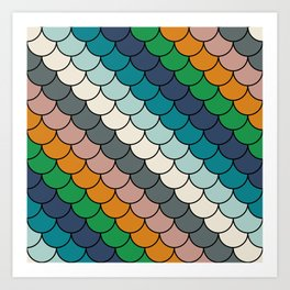 Colorful scales pattern I Art Print