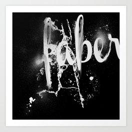 Faber Art Print