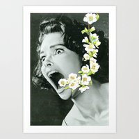 scream Art Prints featuring Scream by Ben Giles