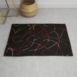 Abstract Threads Red Dapple Rug