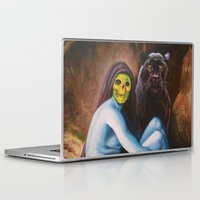 skeletor Laptop & iPad Skins featuring Seated Sorcerer by Hillary White