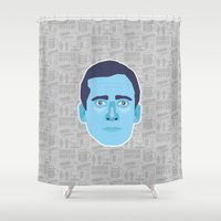 michael scott Shower Curtains featuring Michael Scott - The Office by Kuki