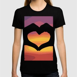 Heart with hands on sunset (V-Day) T-shirt
