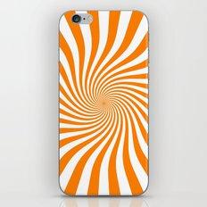 Swirl (Orange/White) iPhone & iPod Skin