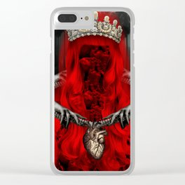 Ghost Queen Clear iPhone Case
