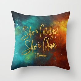 She is catalyst. She is Chaos. Illuminae Throw Pillow