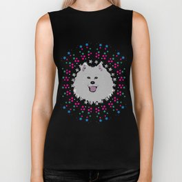Samoyed Star Stuff Biker Tank