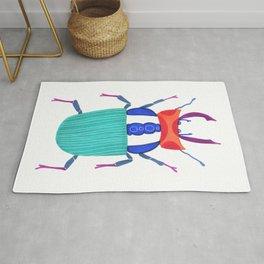 Turquoise fantasy beetle Rug