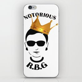 RBG Ruth Bader Ginsburg Fight For The Things You Care About iPhone Skin