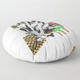 Bent Chrome Junk // Frozen Paint Drop Floor Pillow