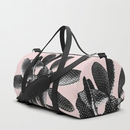 Black Blush Cactus #1 #plant #decor #art #society6 Duffle Bag