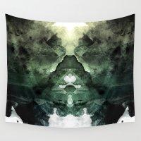 rorschach Wall Tapestries featuring Test de Rorschach by acefecoo