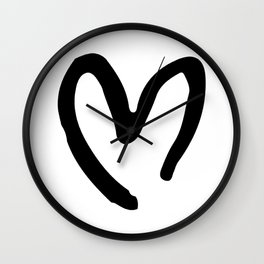 Black and White Heart Wall Clock
