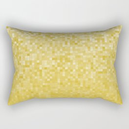 Pixels Gradient Pattern in Yellow Rectangular Pillow
