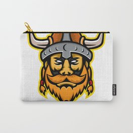 Viking Warrior or Norse Raider Head Mascot Carry-All Pouch