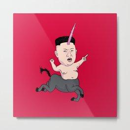 Kim Jong Unicorn Metal Print