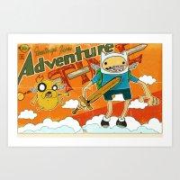 Urbnpop Greetings from Adventure Time Art Print