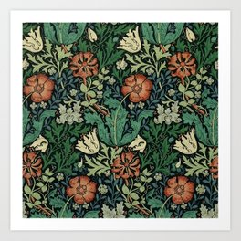 William Morris Compton Floral Art Nouveau Pattern Art Print