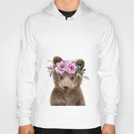 Baby Bear Cub with Flower Crown Hoody