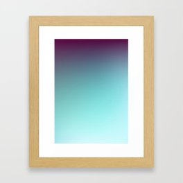 AQUA / Plain Soft Mood Color Blends / iPhone Case Framed Art Print