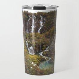 Plitvice Lakes Waterfalls Travel Mug
